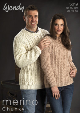 Merino Chunky His & Hers Sweater Wendy Merino Chunky - 5619