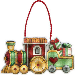 Dimensions Train Ornament Cross Stitch Kit - 12cm x 6.5cm
