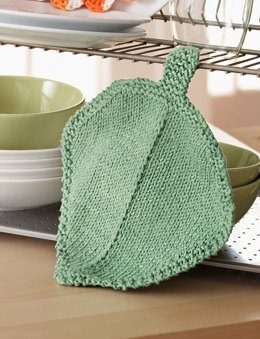 Garden Leaf Dishcloth in Bernat Handicrafter Cotton Solids