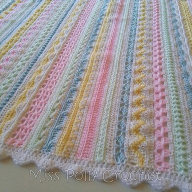 Sherbert Stripes Sampler Baby Blanket