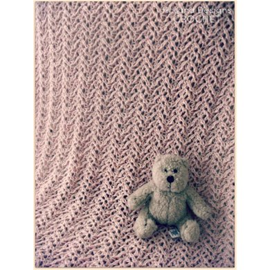Knit-Look Lace Baby Blanket
