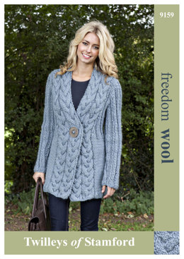 Knitted Cable Trim Jacket in Twilleys Freedom Wool - 9159