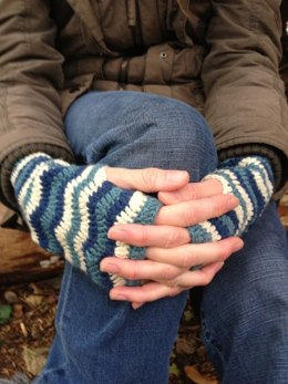 'Earn Your Stripes' Crochet Mitts