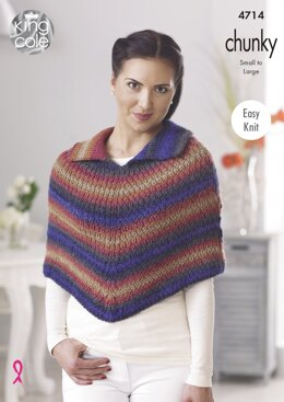 Cape & Accessories in King Cole Riot Chunky - 4714 - Downloadable PDF