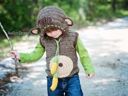 Chip The Banana Monkey Vest Crochet PDF Pattern