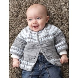 Cluster Yoke Cardigan in Patons Beehive Baby Sport