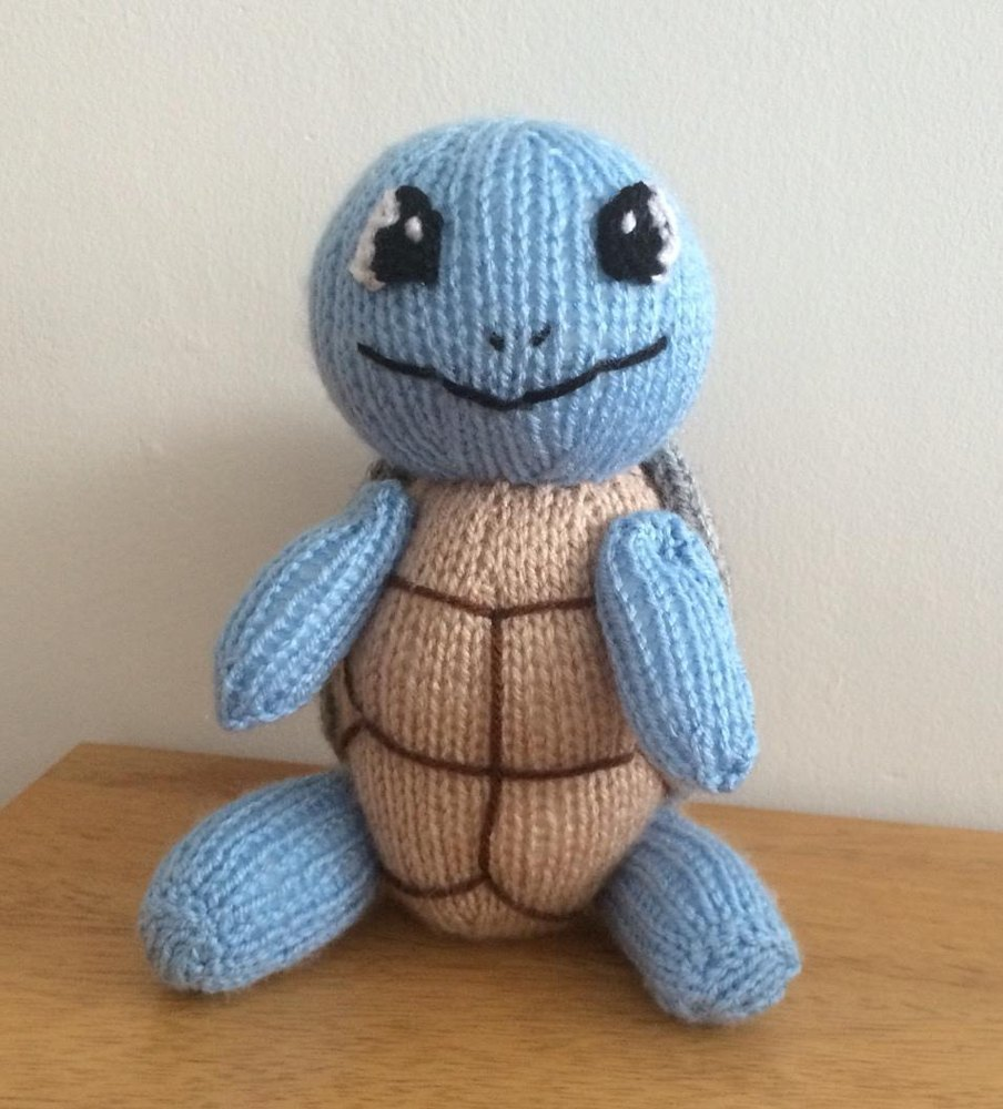 Squirtle pokemon soft toy amigurumi Knitting pattern by