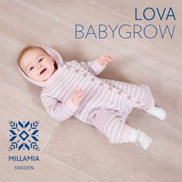 Lova Babygrow in MillaMia Naturally Soft Merino - Downloadable PDF