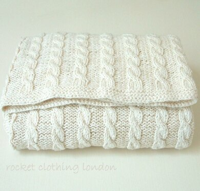Baby Blanket ' Classic Cable'