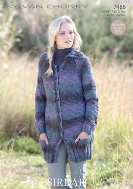 Ladies Coat in Sirdar Sylvan - 7486