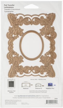 Spellbinders Amazing Papers Grace Glimmer Hot Foil Plate - The Contessa's Seal Panel