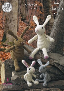 The Rabbit Family in King Cole Merino DK - 9034 - Downloadable PDF