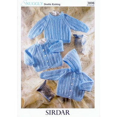 Cardigan, Jacket and Sweater in Sirdar Snuggly DK - 3898