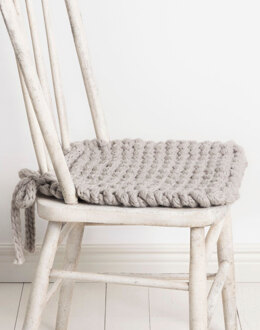 Champlin Chair Cushion in Blue Sky Fibers Woolstok Jumbo - 201902 - Downloadable PDF