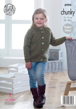 Sweater & Cardigan in King Cole Big Value Chunky - 4990 - Leaflet