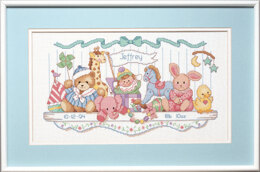 Dimensions Toy Shelf Birth Record Cross Stitch Kit - 40cm x 23cm