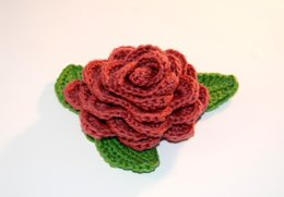 Rose and Leaves Embellishment