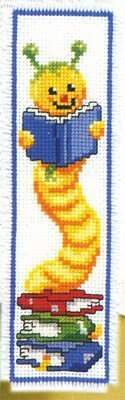 Vervaco Bookworm Bookmark Cross Stitch Kit - 6.5cm x 20.5cm