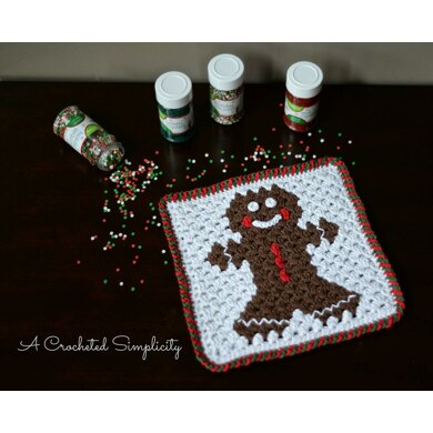 Gingerbread Man Hot Pad