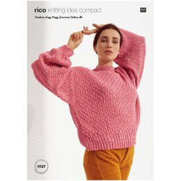 Sweater in Rico Creative Lazy Hazy Summer Cotton DK - KIC1021 - Downloadable PDF