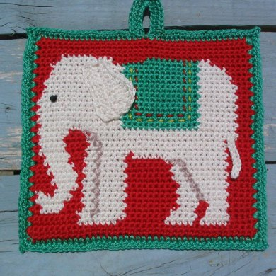 Nelephant the Elephant Potholder
