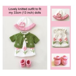 Dolls clothes outfit knitting pattern 19035