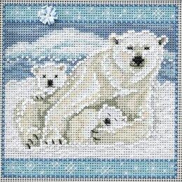 Mill Hill Polar Bears Cross Stitch Kit - Multi