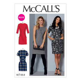 McCall's Misses'/Miss Petite Paneled Dresses M7464 - Sewing Pattern