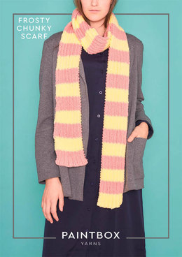 Frosty Chunky Scarf in Paintbox Yarns Simply Chunky - Chunky-Acc-004
