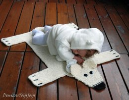 Baby Blanket Polar Bear Rug ( Mat ) Number 2