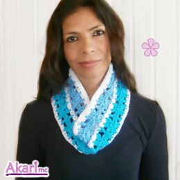Crochet cowl with flowers _ L10