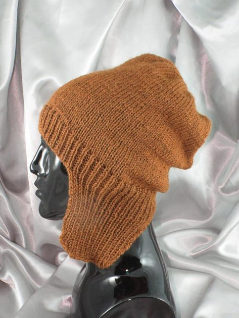 Knit And Purl Pattern : Simple Trapper Slouch Hat Knitting pattern by madmonkeyknits Knitting Patte...