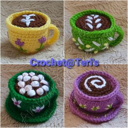 Amigurumi Cafe Time Cuppas (Pincushions)