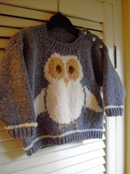Oliver Owl - Child's Sweater