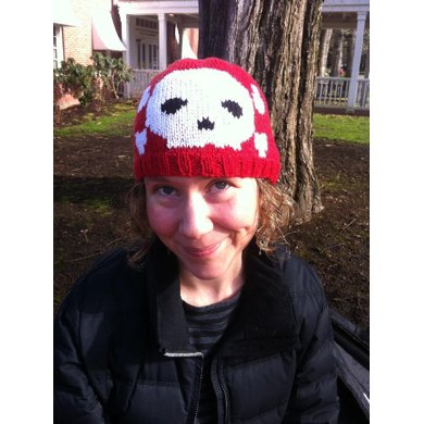 Traditional Skull Hat Knitting Pattern By Livinginstitches