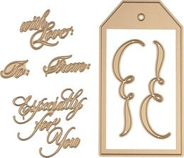 Spellbinders Glimmer Hot Foil Plate - Copperplate Script Gift Tags