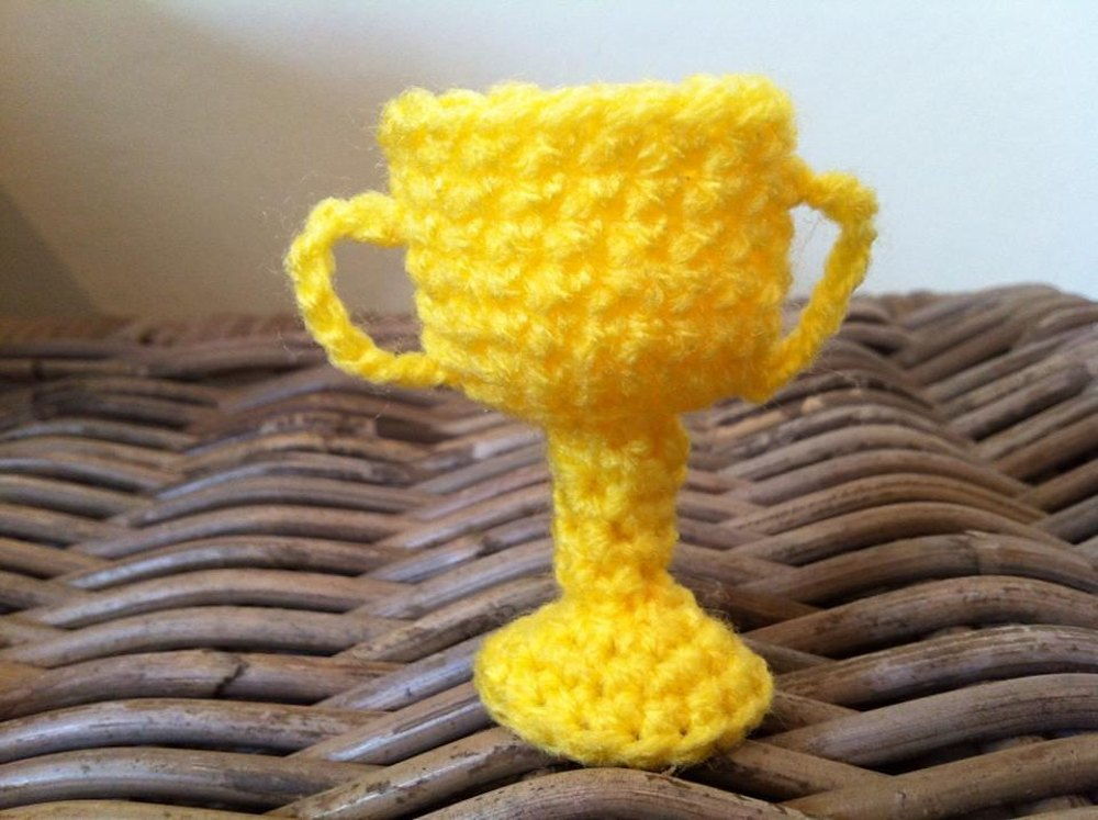 Tiny Cup Trophy Crochet Pattern By Lottie S Creations