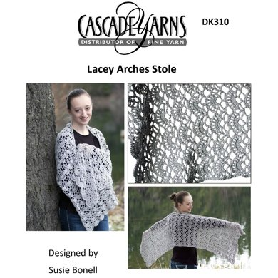 Lacey Arches Stole in Cascade Sunseeker - DK310