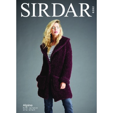 Teddy Bear Coat in Sirdar Alpine - 8282 - Downloadable PDF