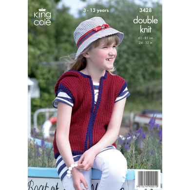 Girls' Cardigan and Gilet in King Cole Smooth DK - 3428