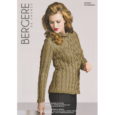 Cable Sweater in Bergere de France Soie - 33913