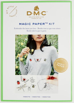 DMC Insect Magic Paper Embroidery Kit