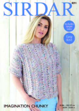 Top in Sirdar Imagination Chunky - 8091 - Downloadable PDF