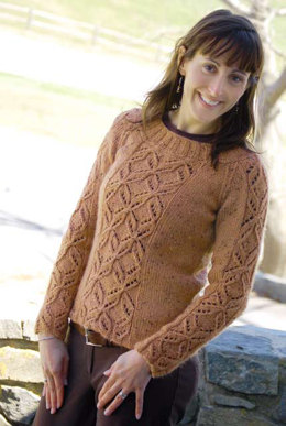 Winter Butterflies Sweater in Knit One Crochet Too Brae Tweed - 2052 - Downloadable PDF