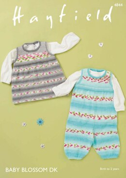 Dungarees and Pinafore in Hayfield Baby Blossom DK - 4844 - Downloadable PDF