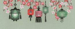 Riolis Lanterns Cross Stitch Kit - 24cm x 8cm
