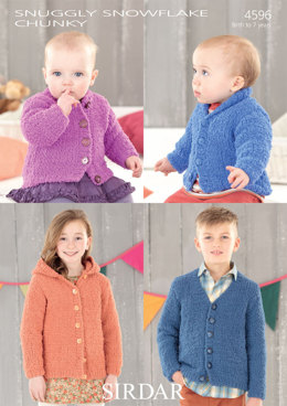 Babies and Children's Cardigans in Sirdar Snuggly Snowflake Chunky - 4596