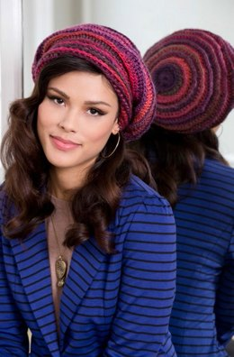 Slouchy Beanie in Red Heart Boutique Unforgettable - LW3633