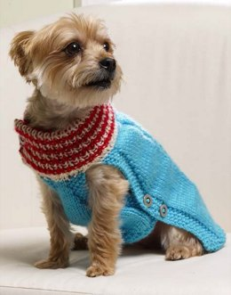 Holiday Dog Sweater in Red Heart Soft Solids - LW3697