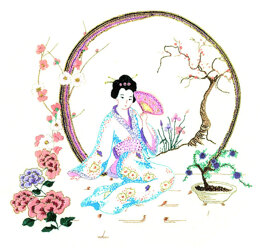 Rajmahal Japanese Garden Embroidery Kit